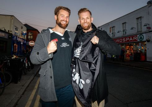 New Zealand fans William Mowbrody and Ben Lacey. Photograph: Oisín Keniry/Inpho