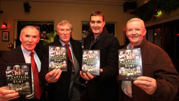 Weeshie Fogarty (far left) pictured with Donie O'Sullivan, Maurice Fitzgerald and Christy Riordan in December 2010. Photograph: Dan Sheridan/Inpho