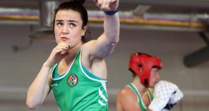 Kellie Harrington is through to the last eight at the Aiba World Elite Championships in India. Photograph: Tommy Dickson/Inpho