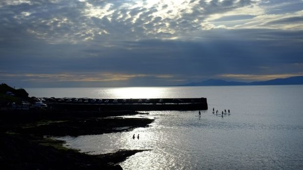 Pier jumping in Creevy, Co Donegal. A new report highlights the potential of western Atlantic counties.