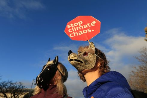 PROTESTS: The Irish Wildlife Trust has organised a series of protests across Ireland on Saturday, November 17th. The family-friendly events were held in protest against what the IWT say is a lack of action in the face of planetary ecological collapse. Photograph: Nick Bradshaw/The Irish Times