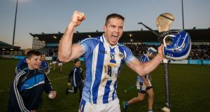 Ballyboden's Conal Keaney celebrates after the AIB  Leinster Senior Hurling Championship semi-final win  over Coolderry at Parnell Park. Photograph: Oisín Keniry