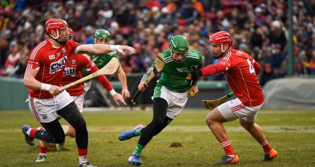 Limerick S Top Scorer Barry Murphy In Action Against Damien Cahalane And Colm Spillane Of Cork During