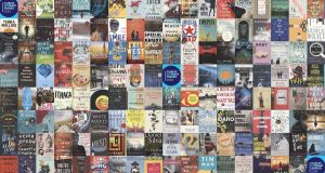 A collage of the 141 longlisted titles