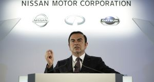 "Nissan on Monday accused Carlos Ghosn of ""significant"" misconduct and said its board would recommend he step down from his role as chairman.  Photographer: Kiyoshi Ota/Bloomberg"