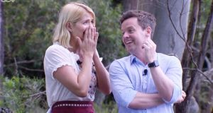 """I've never done it with a girl before,"" Dec Donnelly says to new co-host Holly Willoughby"