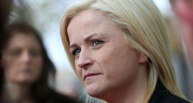 Leona O  Callaghan (37) speaks to the media outside the Central Criminal  Court e19473508