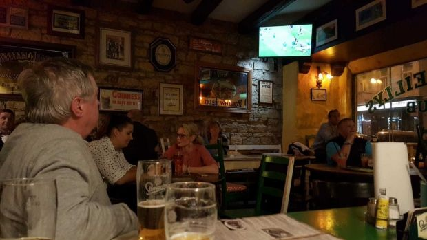 Kevin Hough (Prague): We were in Rocky O'Reilly's Irish Bar in Prague. We travelled there for the my daughter's 30th birthday. Great weekend, wonderful city, perfect weather, mighty celebrations and what a pressie . . . Ireland beat the All Blacks by 16-9!