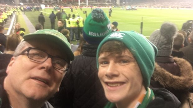 "Kevin Devlin (Aviva): I took my son Owen to the game for his 16th birthday. For us both, it was our first time to the Aviva. ""It doesn't get much better than this Owen,"" I said at the end!"