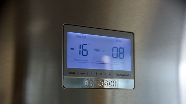 On-door displays let you know at a glance what temperature your fridge freezer is at