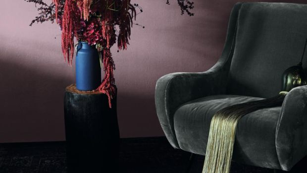 The 720 Lady Armchair is pictured here in a textural velvet set.