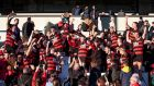 Ballygunner celebrate winning the Munster senior hurling championship final against Na Piarsaigh. Photograph:  Morgan Treacy/Inpho