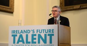 Prof Patrick O'Shea,  chair of the Irish Universities Association. The three categories covered in the rankings – appeal, investment and development, and readiness – assess how countries perform across a  range of areas. File photograph: Dara Mac Dónaill