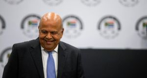Pravin Gordhan, South African minister of public Enterprise,  at the hearings of the judicial commission of inquiry into allegations of state capture, corruption and fraud in the public sector including organs of state on November 19th in Johannesburg Photograph: Wikus de Wet/AFP/Getty
