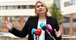Northern secretary Karen Bradley: told business leaders the draft deal was no  threat to North's union with Britain. Photograph:  Colm Lenaghan/Pacemaker Press