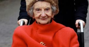 Evelyn Malone (95), who lives at No 72 Dublin Road, Sutton, Dublin 13. File photograph: Courtpix