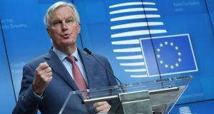 Michel Barnier: his focus this week will be solely on completing the draft.  Photograph: Olivier Hoslet/EPA