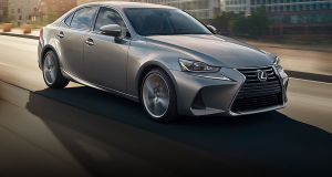 Lexus IS: Its age is most apparent in the cabin, where in spite of a big new infotainment display, the layout looks rather old-hat,