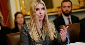 Ivanka Trump, the daughter and assistant to US president Donald Trump used personal email for government business. Photograph: Pablo Martinez Monsivais/AP Photo