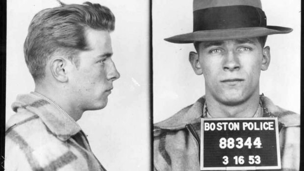 James (Whitey) Bulger, who terrorised South Boston in the 1970s and 1980s and ran the city's notorious Winter Hill Gang. Photograph: Boston Police via The New York Times