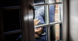 A file image of a break-in. Gardaí said the number of  burglaries rises during the winter.