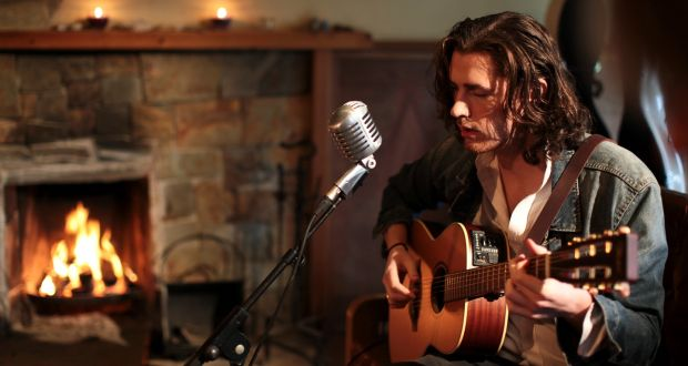 Hozier perform at Other Voices in Dingle.