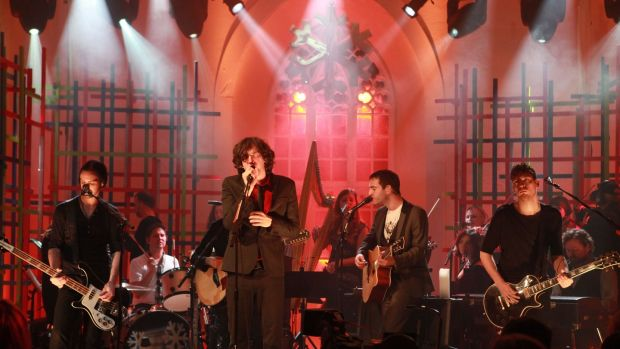 Snow Patrol in St James's Church in Dingle.