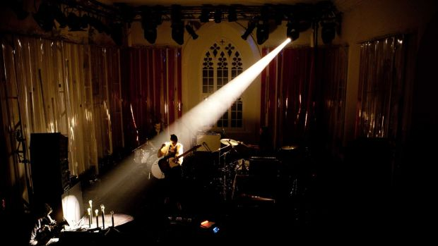 Anna Calvi on stage in St James's Church, Dingle, Co Kerry for Other Voices in 2010.