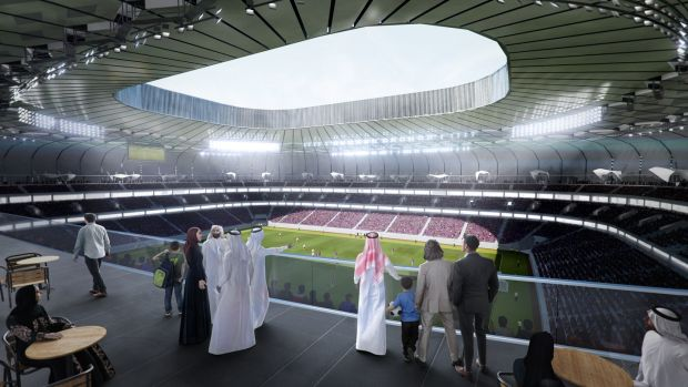An artist's impression of the Qatar Foundation Stadium. Photo: 2022 Supreme Committee for Delivery and Legacy via Getty Images