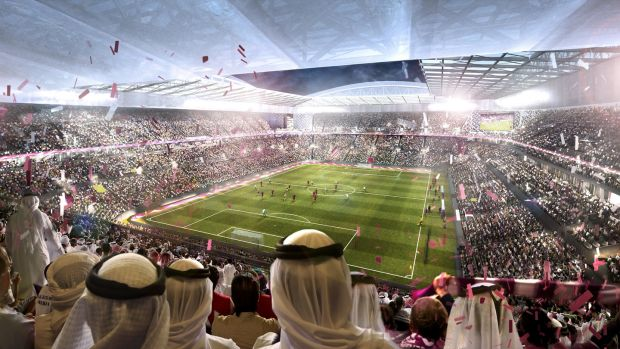 An artist's impression of the Al Rayyan Stadium, a Qatar 2022 World Cup venue. Photo: 2022 Supreme Committee for Delivery and Legacy via Getty Images