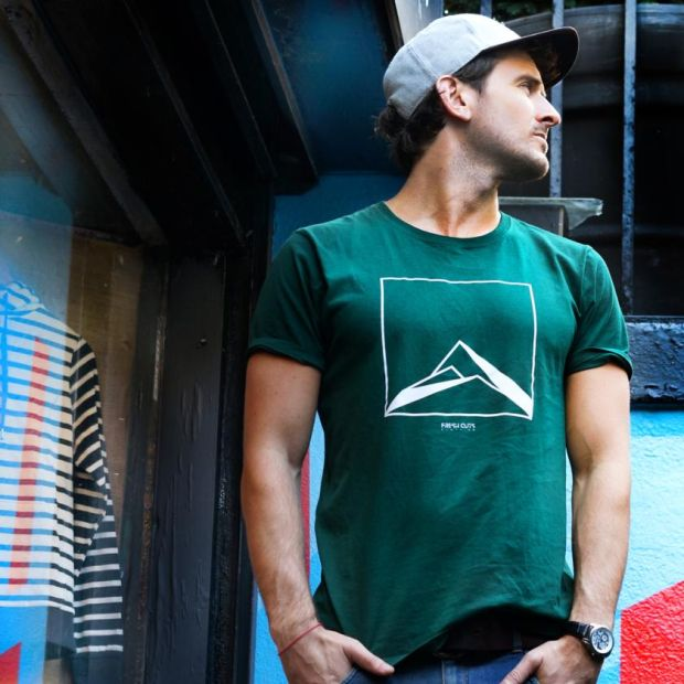 Fresh Cuts Clothing mountain T-shirt, made from ethically produced materials, €25, freshcutsclothing.com