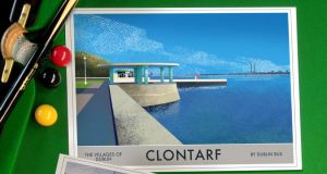Posters of Clontarf and other parts of Ireland, by Roger O'Reilly, €30-€40, irelandposters.ie