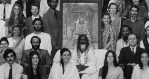 Susan Shumsky, front left, in Rishikesh in 1970
