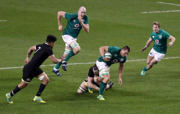 CJ Stander is a big man to knock out of the number eight spot for Ireland. Photo: Bryan Keane/Inpho