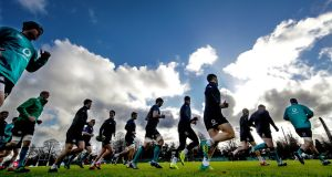 A general view of Ireland training ahead of the final Guinness Series meeting with the USA. Photo: Billy Stickland/Inpho