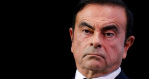 Carlos Ghosn, chairman and CEO of the Renault-Nissan-Mitsubishi Alliance,  at the Paris Auto Show, last month. Photograph: Regis Duvignau/Reuters