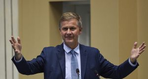 UN environment chief Erik Solheim: 'I have been and remain committed to doing what I believe to be in the best interest of UN Environment and the mission we are here to achieve.' Photograph: Money Sharma/AFP/Getty Images