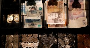 Sterling has steadied this week above $1.28 after dropping 1.1 per cent last week. Photograph: Phil Noble/Reuters