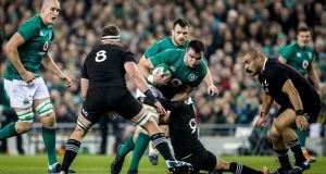 Gordon D'Arcy says James Ryan played more like an All Blacks lock than Brodie Retallick and Sam Whitelock did. Photograph: Garry Carr/Inpho
