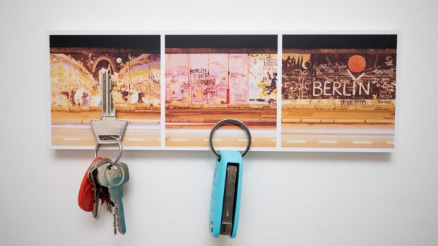 Berlin Wall key holder. Photograph: Tom Honan/The Irish Times.