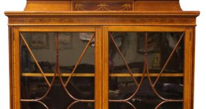 Section of two door library bookcase sold for €1,050 through Hegarty's (€1,000-€1,500)