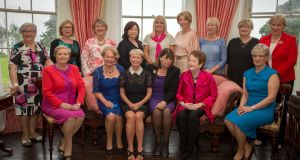 Constance Cassidy, centre, with a group of current and former female government ministers who gathered at Lissadell House in Sligo in July 2018, to commemorate the 89th anniversary of the death of Countess Markievicz. Photograph: James Connolly