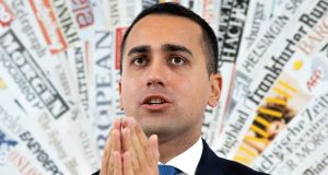"Italy's deputy prime minister, Luigi Di Maio, said the European Commission couldn't seek to ""massacre Italians"" over budgetary measures. Photograph: Getty"
