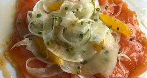 Sean Smith's smoked salmon with a fennel and citrus salad