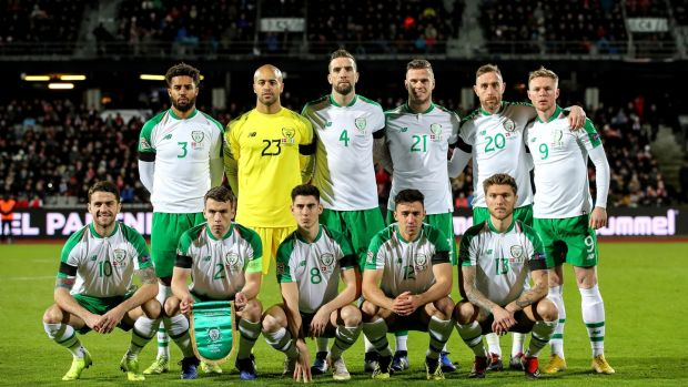 The Ireland team from O'Neill's final game in charge. Photo: Ryan Byrne/Inpho