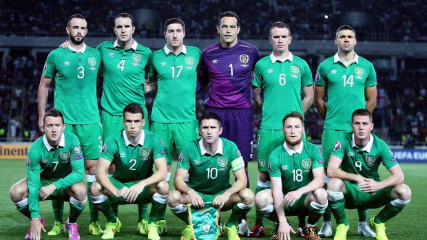 The Ireland team from O'Neill's first competitive game in charge. Photo: Donall Farmer/Inpho