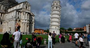 The Leaning Tower of Pisa is now stable and has even straightened slightly thanks to engineering work to save the world-renowned tourist attraction. File photograph: Miguel Medina/AFP/Getty Images