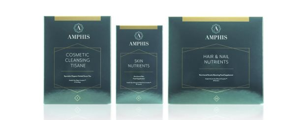 Amphis Cosmetic Cleansing Tisane, €19.99, Amphis Skin Nutrients, €59.99, and Amphis Hair and Nail Nutrients, €69.99, amphisbeauty.com and pharmacies countrywide
