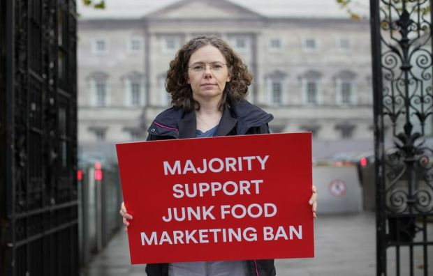 A poll by the Irish Heart Foundation in earlier this month claimed seven in 10 Irish adults are in favour of a ban on the advertising and promotion of unhealthy food and drinks to children.