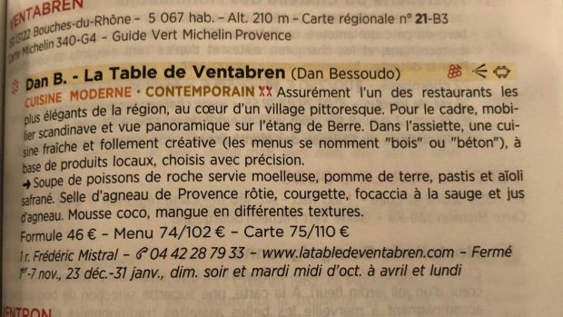 Is there a prouder moment than having your dessert mentioned in the Michelin guide? Gráinne Mullins asked in February during her sojourn at Dan B in France